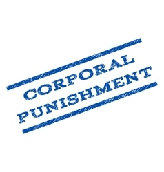 Corporal punishment watermark stamp vector