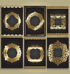 Decorative gold and black backgrounds vector image vector image
