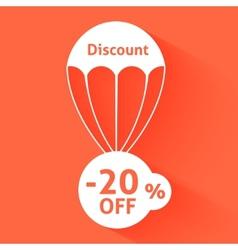 Discount parachute vector image