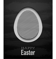 Easter card with egg - chalkboard vector
