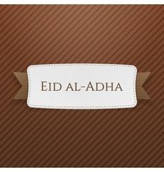 Eid al-adha realistic festive tag vector
