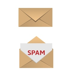 Envelope with spam message vector image vector image