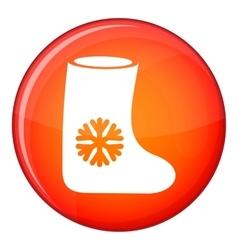 Felt boots icon flat style vector