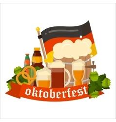 Festive Oktoberfest Banner vector image vector image