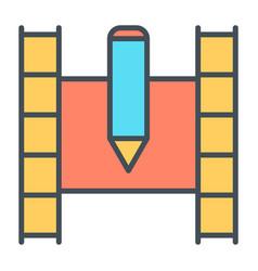 film strip line icon video symbol vector image vector image