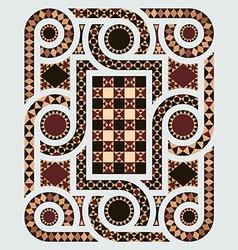 Floor mosaic vector