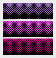 Halftone square pattern banner template set - vector