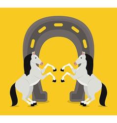 Horse design vector image