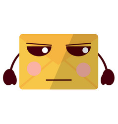 Message envelope kawaii icon image vector