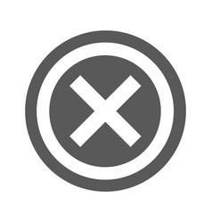 not icon simple vector image vector image