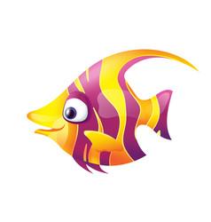 Pretty smiling striped fish vector