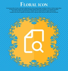 Search documents icon sign floral flat design on a vector
