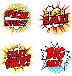 Set of Special Offer Super Sale Crazy SHOP Big vector image vector image