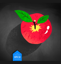 top view of red apple vector image
