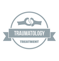 treatment logo simple gray style vector image vector image