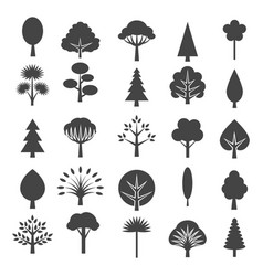 tree icons isolated on white background vector image vector image