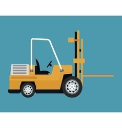 Truck forklift warehouse machine work vector