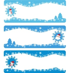 Winter banners and backgrounds vector image vector image