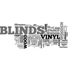 Wood or vinyl blinds text word cloud concept vector