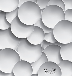 Abstract 3d paper circle design vector