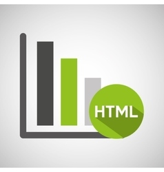 Web development graphics bar economy html vector