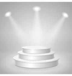Blank white empty musical concert podium vector