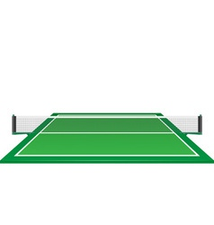 Net and table for tennis ping pong vector