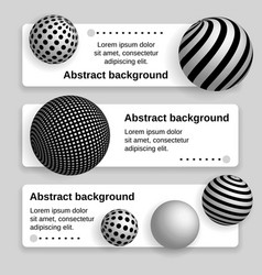 Business banner with 3d balls vector