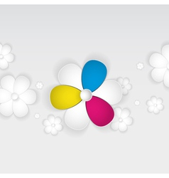 Abstract 3d flowers of paper vector image