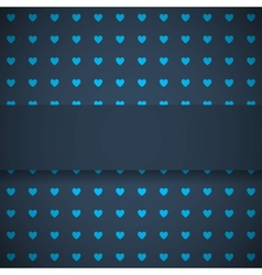 Dark blue background with hearts vector image