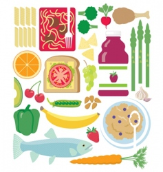 Eat healthy vector