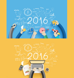 2016 new year business success vector