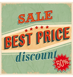 Best price sale vector