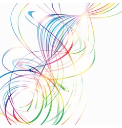 Abstract background with rainbow curved lines vector
