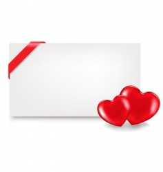 blank gift tag with hearts vector image