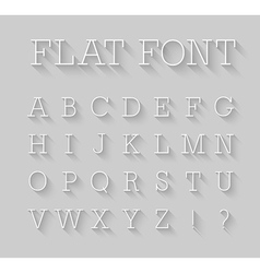 Flat font with shadow effect vector