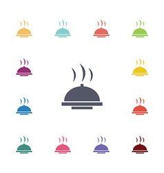 Dish flat icons set vector
