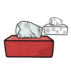 Box of tissues vector