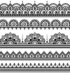 Mehndi indian henna tattoo seamless pattern desi vector
