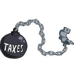 Tax shackles vector
