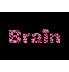 Brain text of texture brains vector
