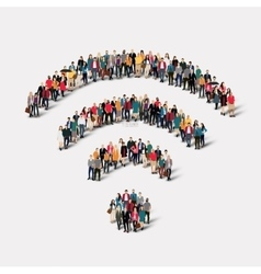 Group people sign wi fi vector