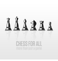 Chess pieces on a gray background vector