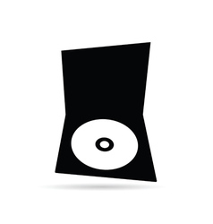 Cd black and white vector