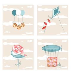 Sweets Flight Set vector image