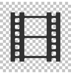Reel of film sign dark gray icon on transparent vector