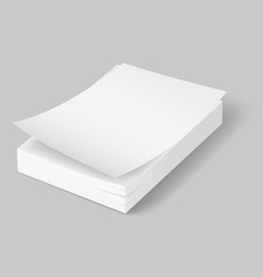 A 4 stack of paper 02 02 vector image
