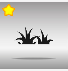 Black grass icon button logo symbol concept vector