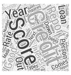 Credit report and score word cloud concept vector