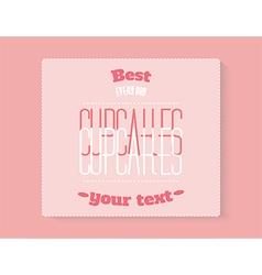 cupcake badge vector image